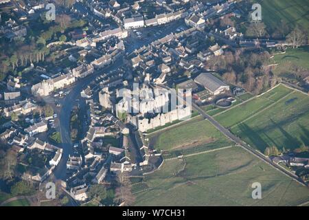 Château de Middleham, North Yorkshire, Angleterre Historique 2014 Créateur: photographe personnel. Banque D'Images