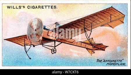 Monoplan Antoinette' de 'aviator français Hubert Latham, c1910. Artiste: Inconnu