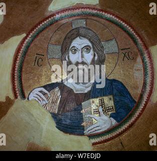 Mosaïque de Christ Pantocrator, 11e siècle. Artiste: Inconnu