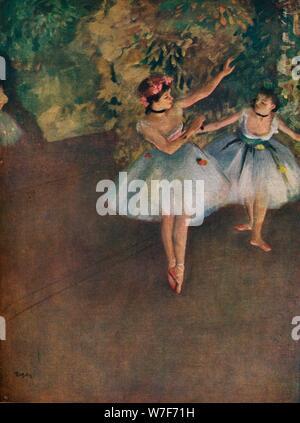 """""""Deux danseurs de ballet sur la scène (Deux danseuses Sur la scène)', 1874 (1946). Artiste: Edgar Degas."""