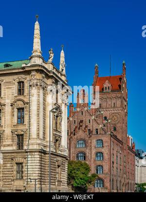 Le tribunal régional supérieur de la Cour constitutionnelle et de la Bavière, Munich, Bavière, Allemagne. Banque D'Images