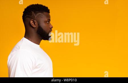 Portrait de profil de african american man Banque D'Images