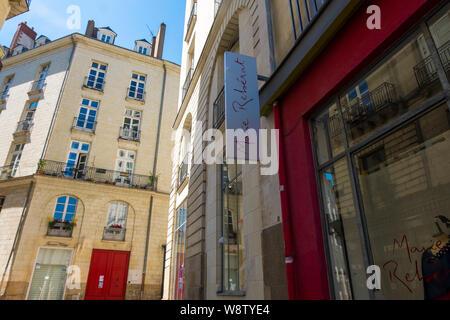 Nantes, France - 12 mai 2019 - Promenade le long des rues du centre historique de Nantes, France Banque D'Images