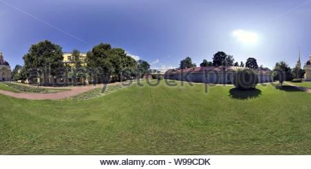 St.Pierre et St.Paul cathédrale à l'intérieur de la forteresse. St.Petersburg Banque D'Images