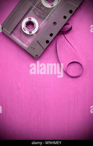 Cassette à bande détendue Banque D'Images