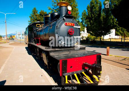 Vieille Locomotive Express de Patagonie - Argentine Banque D'Images