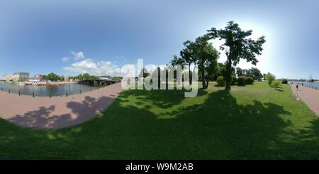 Canal Kronverk. riverside Neva Forteresse Pierre et Paul. Belle vue panoramique point. St.Petersburg Banque D'Images