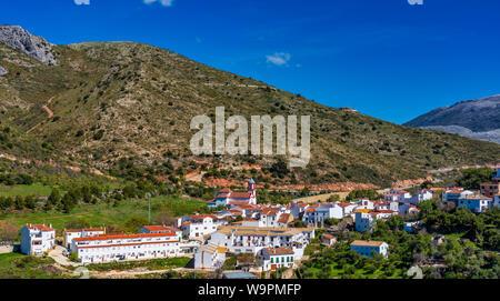 La plus petite ville dans la région de Ronda, Atajate, Andalousie, Espagne, la péninsule ibérique Banque D'Images