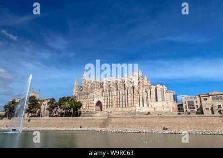 Cathédrale La Seu à Palma de Mallorca Banque D'Images