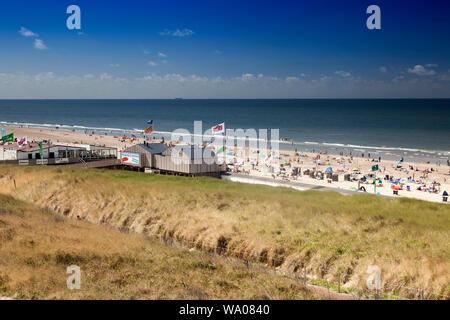 Paysage de dunes sur la plage d'Egmond, mer du Nord , la Hollande, Pays-Bas, 30057076 *** *** légende locale Banque D'Images