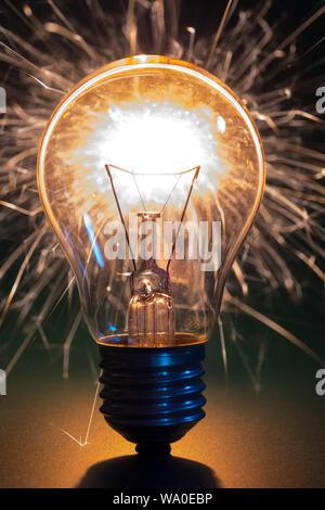 Ampoule incandescent Banque D'Images