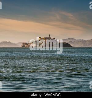 L'île d'Alcatraz dans la baie de San Francisco. San Francisco, Californie, États-Unis d'Amérique