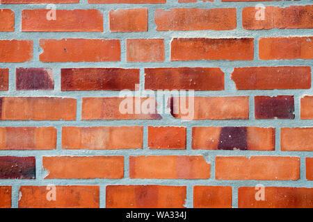 Décoration et conception. Mur de brique rouge texture background. Contexte industriel entrepôt vide urbain grunge mur de briques. Concept de matériaux de construction. Surface sur fond de maçonnerie. Abstrait toile. Banque D'Images