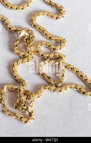 Or Vintage Chaîne corde turc Still Life Banque D'Images