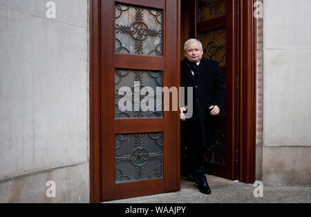 02. 03. 2014 Varsovie, Pologne. Sur la photo: Jaroslaw Kaczynski Banque D'Images
