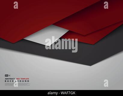 Triangle rouge dégradé Abstract design se chevauchent de tech arrière-plan. Utiliser pour poster, art, design, modèle de couvercle. illustration vector eps10 Banque D'Images