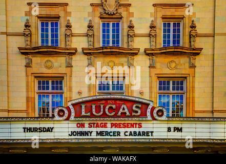 USA, Georgia, Savannah. Lucas Theatre historique dans le quartier historique de Savannah. Banque D'Images