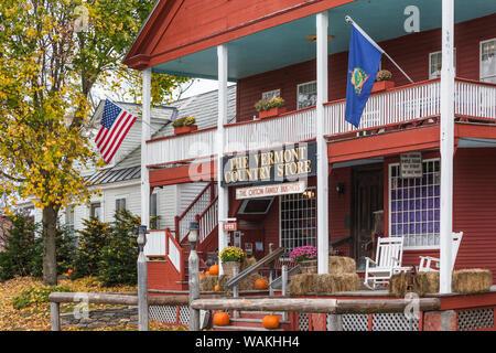 USA, New York, Weston. L'extérieur du magasin de campagne du Vermont