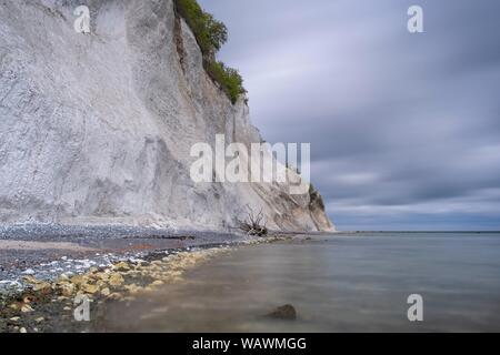 La mer Baltique et de falaises de craie, la côte escarpée, Mons Klint, Mon île, Klint, Danemark