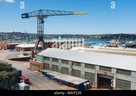Chantier Pendennis superyacht, Falmouth, Cornwall, UK Banque D'Images