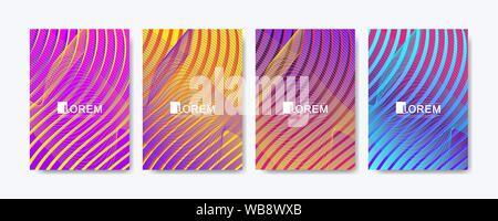 Résumé motif géométrique avec des lignes de fond de texture. Modèle de gradient coloré moderne résumé arrière-plan pour la conception de la couverture de l'affiche brochure web Banque D'Images