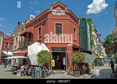 Street à Plovdiv;Bulgarie; Banque D'Images