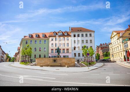WEIMAR, ALLEMAGNE - circa 2019, juillet: le Monument de Wieland Weimar en Thuringe, Allemagne Banque D'Images