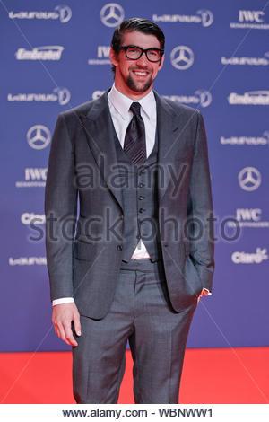 [Aucune] Brésil Rio de Janeiro, Brésil - retraité le nageur américain Michael Phelps participe à la Laureus World Sports Awards 2013 au Brésil. AKM-GSI, 11 mars 2013 [Non] Banque D'Images