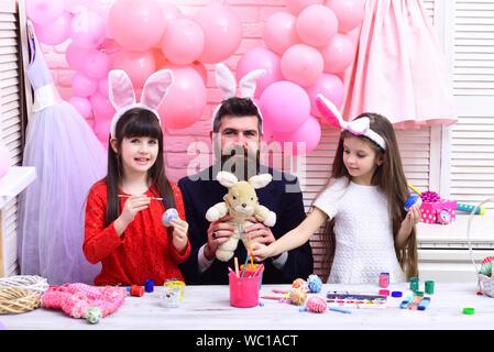Les valeurs de la famille, l'enfance, l'art. Banque D'Images