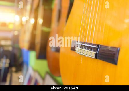 Close-up de guitares