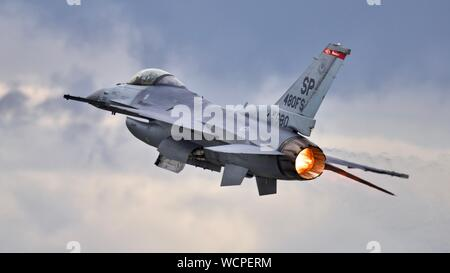 United States Air Force F-16 Viper à l'équipe de démonstration de Royal International Air Tattoo 2019