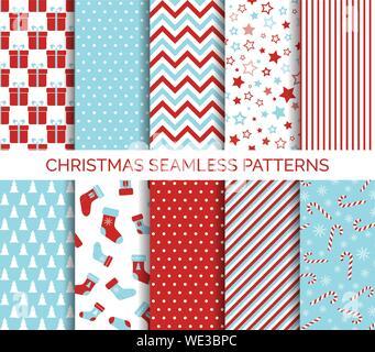 Noël ensemble de motifs vectoriels transparente et l'arrière-plan Banque D'Images