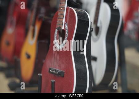 Close-up de guitares classiques