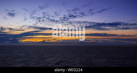 Nouvelle-Zélande magnifique paysage, coucher de soleil Banque D'Images