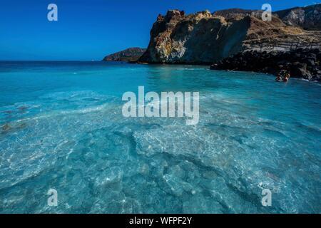 Italie, Sicile, Îles Éoliennes inscrite au Patrimoine Mondial de l'UNESCO, Vulcano, Nolegio beach Banque D'Images