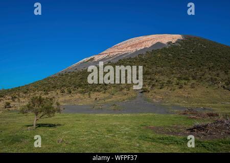 Italie, Sicile, Îles Éoliennes inscrite au Patrimoine Mondial de l'UNESCO, Vulcano, au pied du cône Banque D'Images