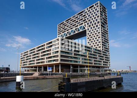 Appartement moderne dans la construction de logements dans le projet contemporain Houthaven de voisinage et de départ des ferries port NDSM