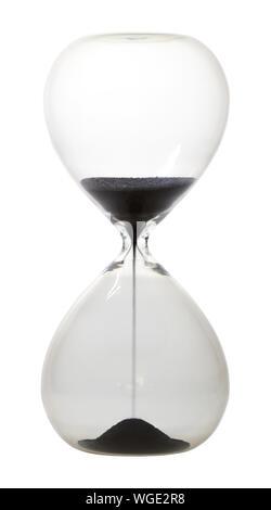 Close-up de Hourglass Against White Background Banque D'Images