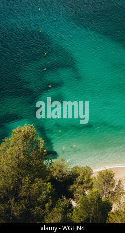 High Angle View of Sea et arbres Banque D'Images