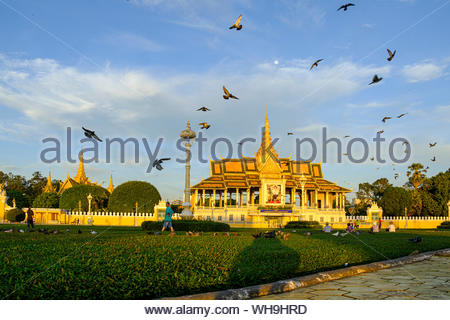 Palais Royal, Phnom Penh, Cambodge, Indochine, Asie du Sud, Asie Banque D'Images