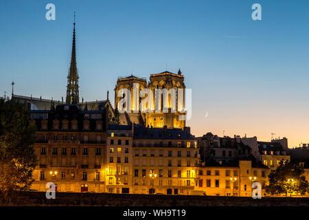 Paris by night, Paris, France, Europe Banque D'Images