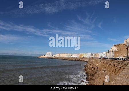 Promenade de la ville de Cadix Espagne