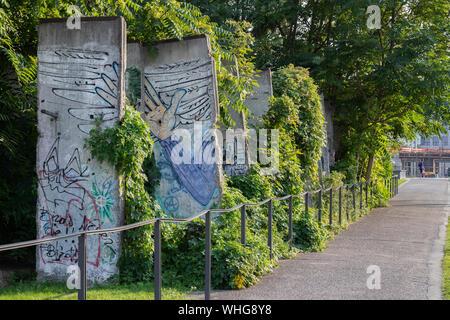 Memorial, mur de Berlin Banque D'Images