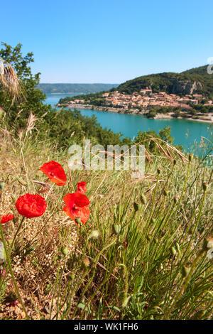 Lac de Saint Croix en provence Var France Banque D'Images