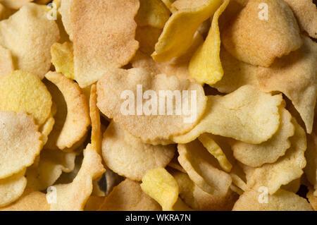 Full Frame Shot of Potato Chips Banque D'Images