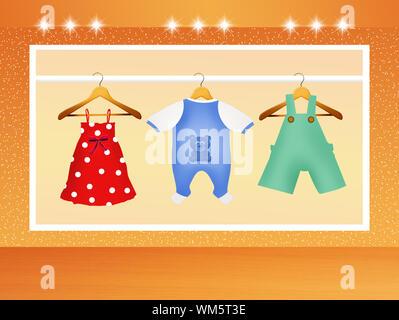 Vêtements pour bébés Banque D'Images