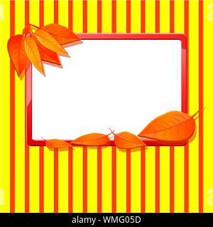 Automne fond avec des feuilles, vector illustration Banque D'Images