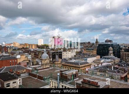 Vue sur la ville de la tour Phare, dont Goma, Glasgow, Écosse, Royaume-Uni