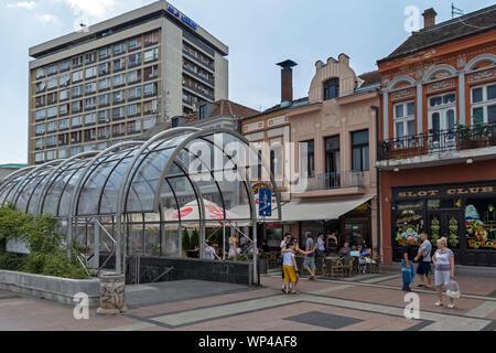 NIS, Serbie - 15 juin 2019: Panorama du centre de ville de Nis, Serbie