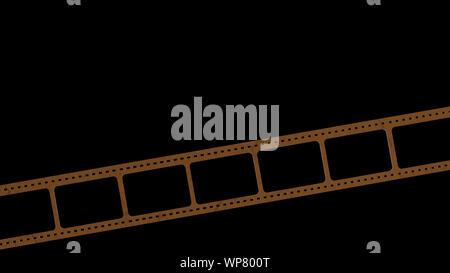 Le rendu 3D de 35mm bande de film numérisation avec des signes d'utilisation avec fond isolé Banque D'Images